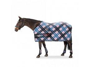 Fleecová deka károvaná