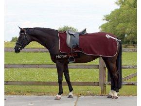 Bederní deka QHP Ornament Burgundy