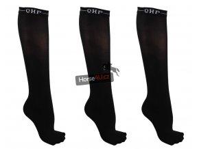 Podkolenky QHP Color Black 3ks