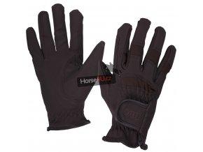 Jezdecké rukavice QHP Multi Brown