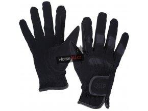 Jezdecké rukavice QHP Multi Black
