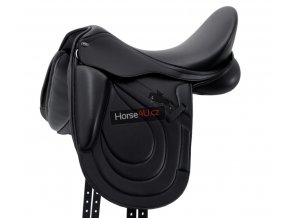 SS20 Bletchley Synthetic Monoflap Dressage Saddle Black Main image 72 RGB zo