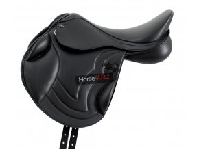 SS20 Bordeux Synthetic Monoflap Cross Country Saddle Black Side Shot 72 RGB