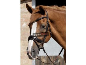 SS19 Rizzo Anatomic Snaffle Bridle with Flash Brown Main Image RGB 72 zoom