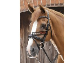 SS19 Favoloso Anatomic Bridle with Crank Noseband Black Main Image RGB 72 zo