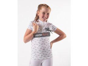 Dívčí závodní triko Jade Junior White