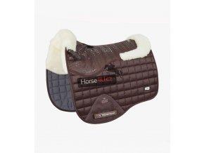 Capella CC Merino Wool Dressage Square Brown Natural Wool 1 768x