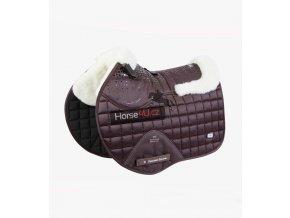 Capella Wool GPJump Saddle Pad Chocolate 1 768x