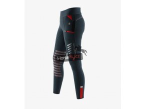 Rexa Knee Patch Gel Ladies Pull On Riding Tights Grey 1 768x