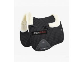 Close Contact Merino Wool European Half Lined Dressage Square Black Natural 1 768x