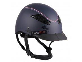 Jezdecká helma QHP Dynamic Blue