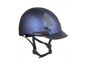 Jezdecká helma QHP Galaxy Navy