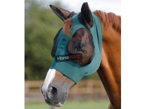 Comfort Tech Lycra Fly Mask Green 1024x
