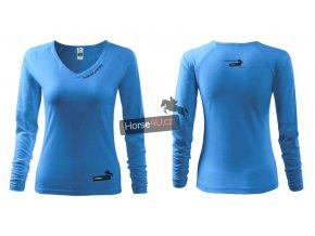 Dámské triko Elegance Azurově modré