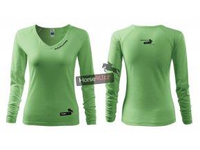 Dámské triko Elegance Trávově zelené