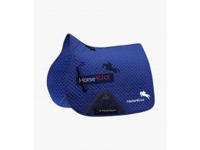 Podsedlová dečka Horse4U Cotton královsky modrá s textovým logem