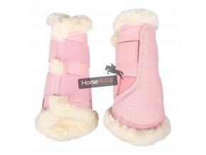 Chrániče QHP Tie dye Pink