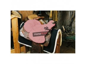 engel reitsport lammfell sattelsitzbezug western mit horn sabez3 pink