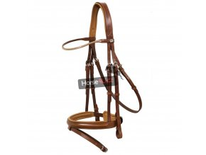 Schockemohle Sports Delaware Bridle Nougat and Silver 1024x1024