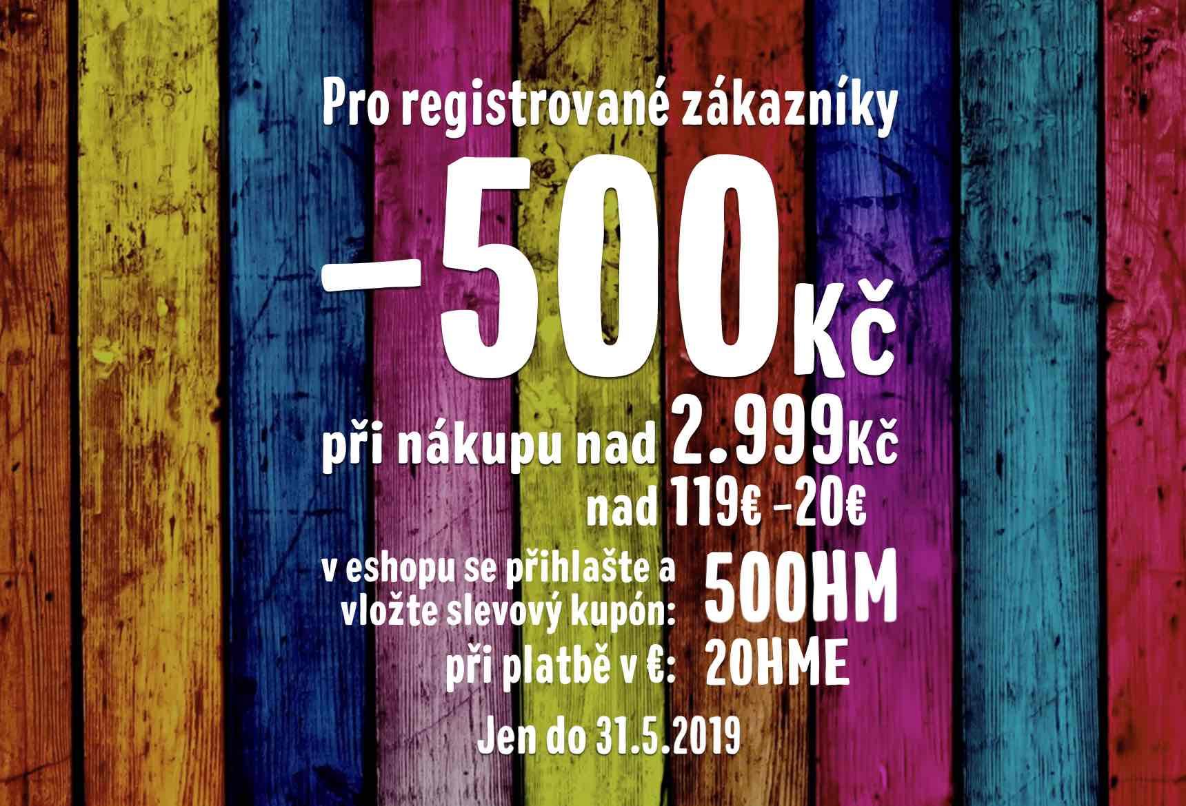 -500Kč pro registrované zákazníky