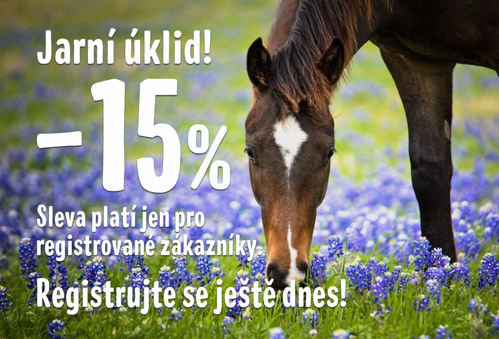 Jarní sleva -15% pro registrované zákazníky!