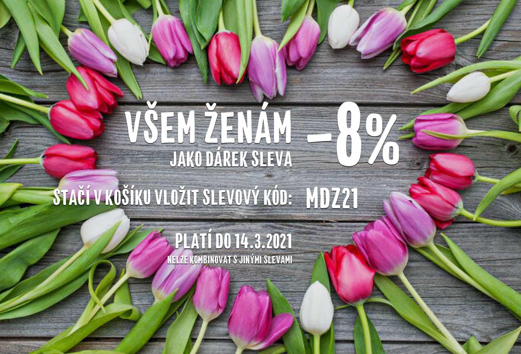 MDŽ -8% sleva pro ženy!