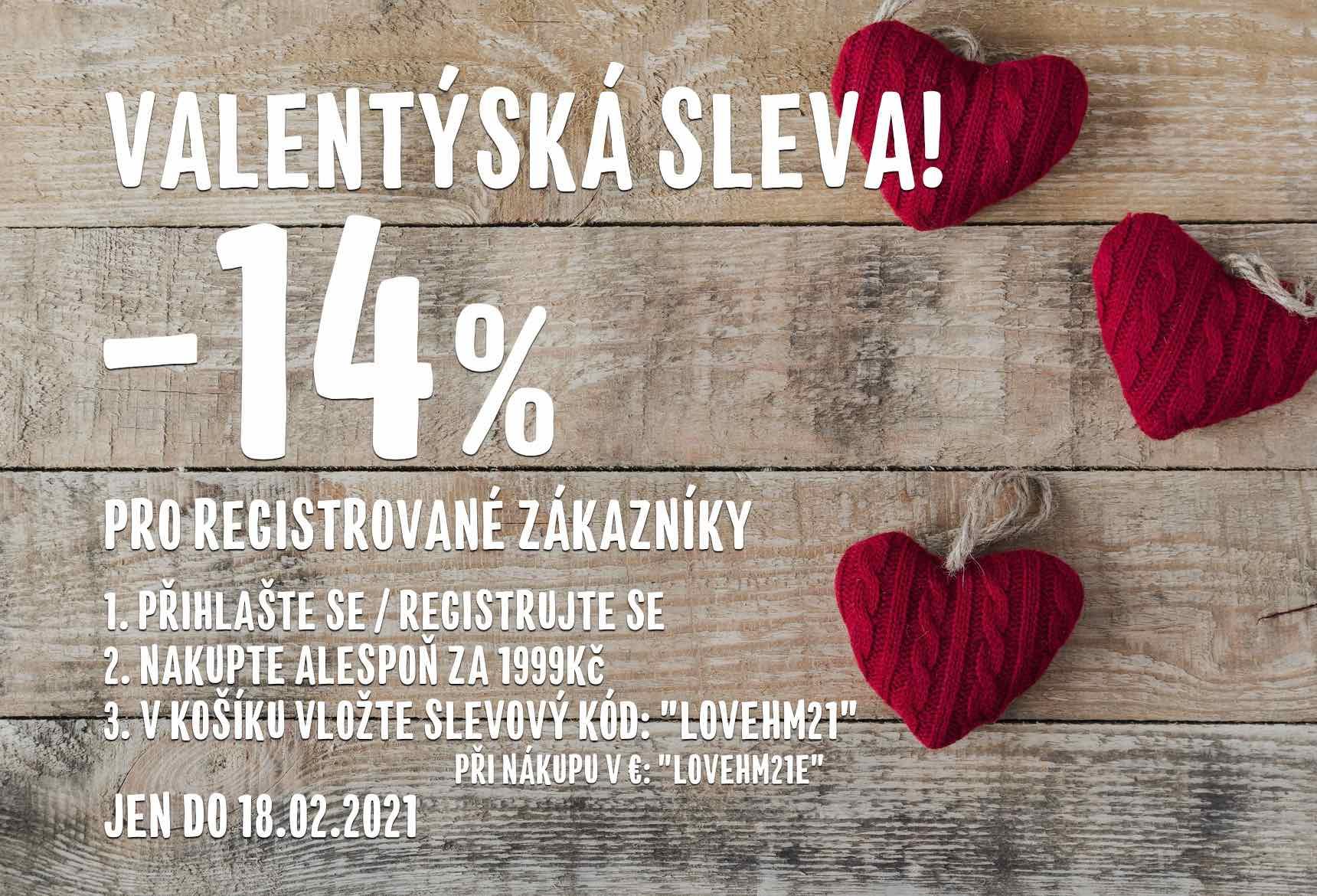Valentýnská sleva -14%