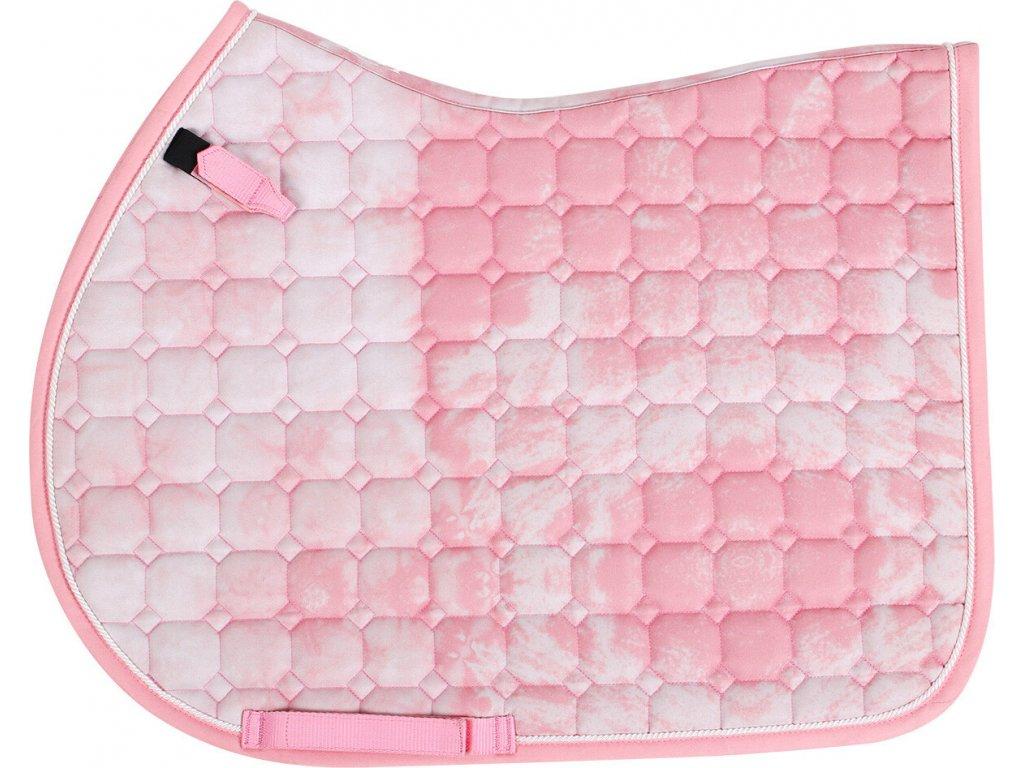 Dečka podsedlová Tie dye QHP, pink
