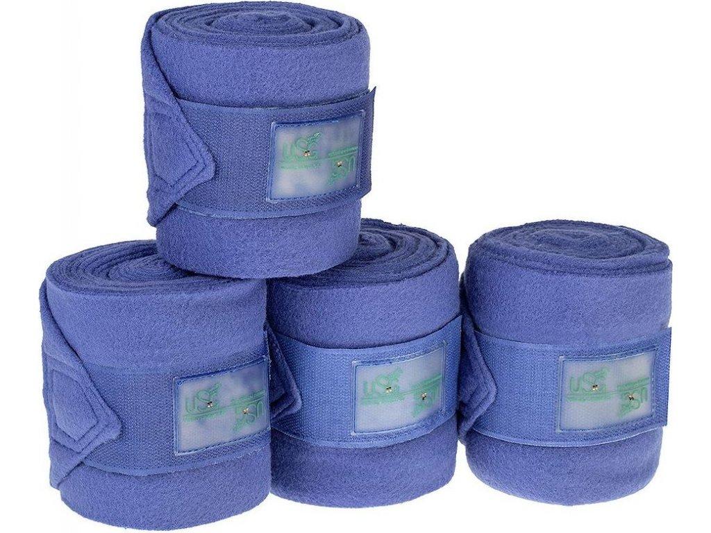 Bandáže fleecové 4ks CHIC USG, royal blue