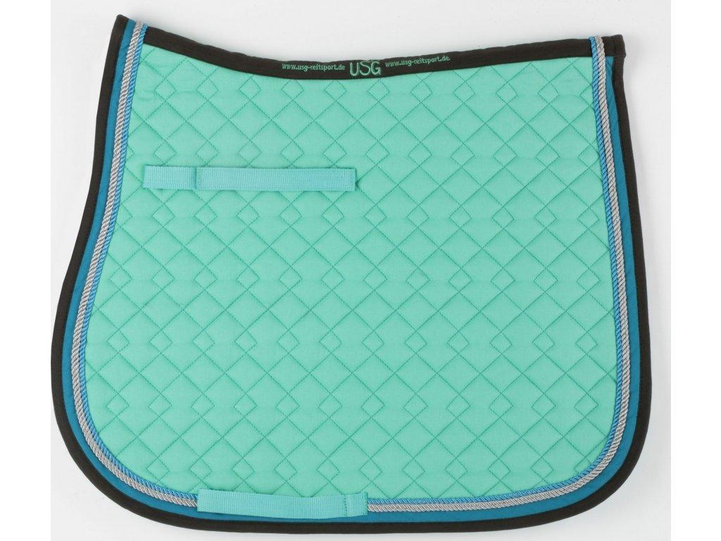 Dečka podsedlová prošívaná USG, mint/blue/anthracite