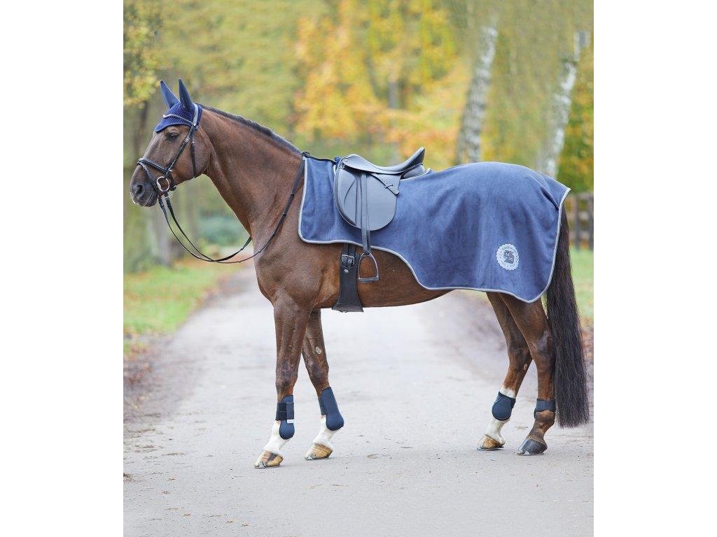 Deka bederní fleece Alcantara Waldhausen, night blue