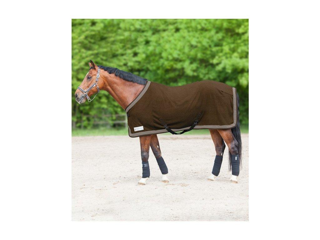 Deka odpocovací fleece Esperia Two Waldhausen, dark brown/beige