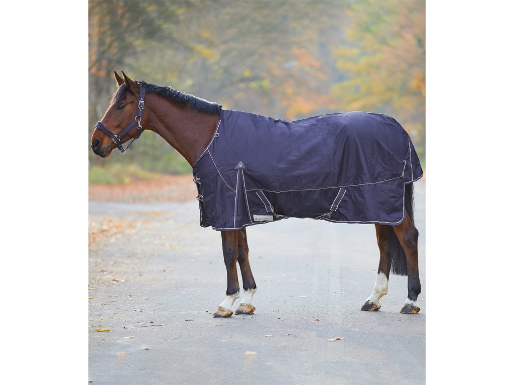 Deka výběhová fleece Comfort Waldhausen, dark blue