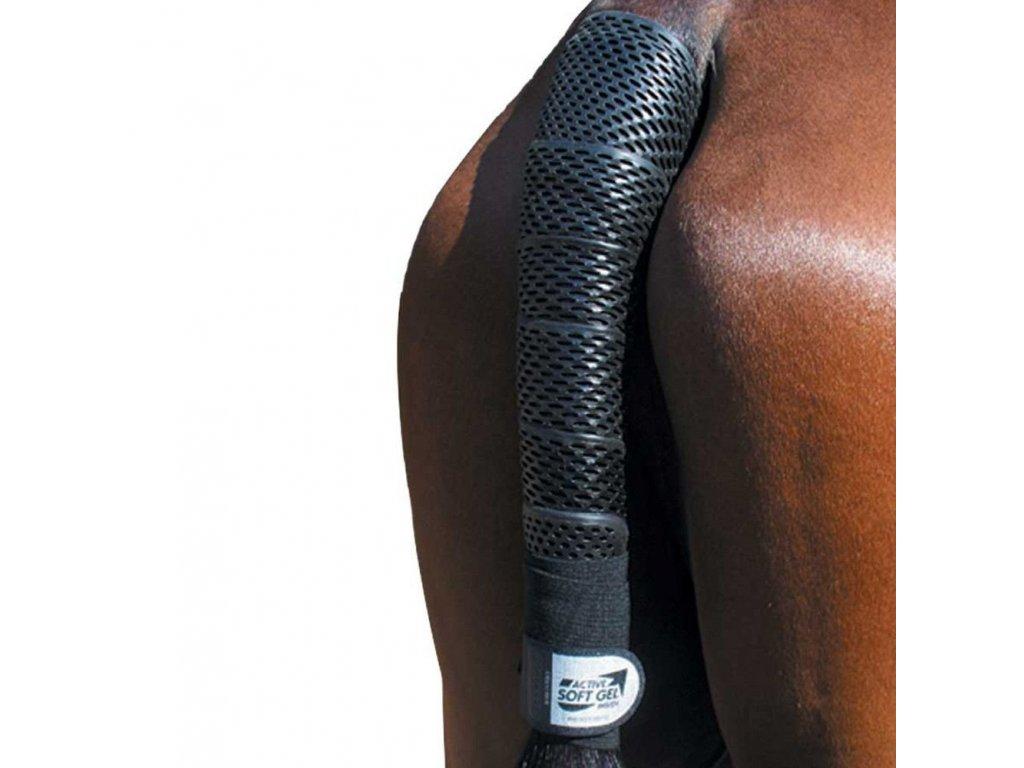 Chránič na ocas Gel tail wrap Acavallo, černý