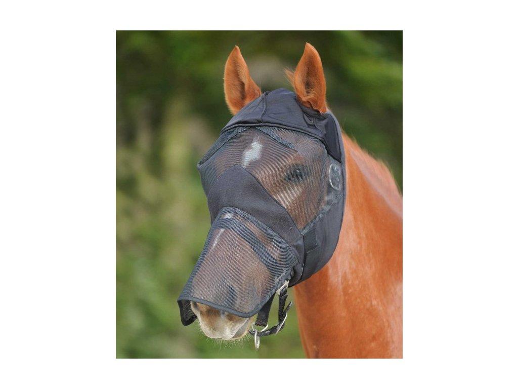 Maska proti hmyzu bez ochrany uší/ s překrytím nozder Waldhausen, černá