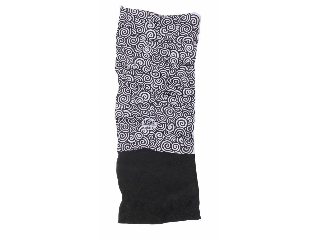 Multifunkční šátek s fleecem MATT,  white/black