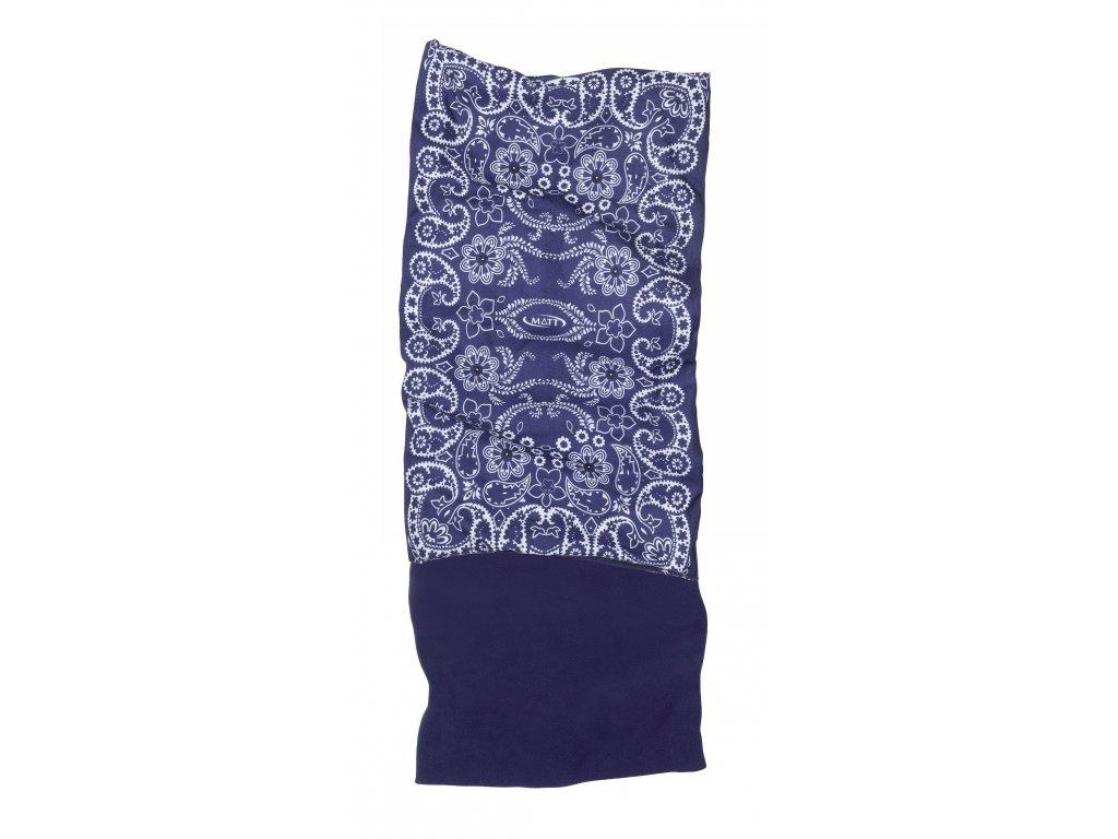 Multifunkční šátek s fleecem MATT, dětský, navy/offwhite