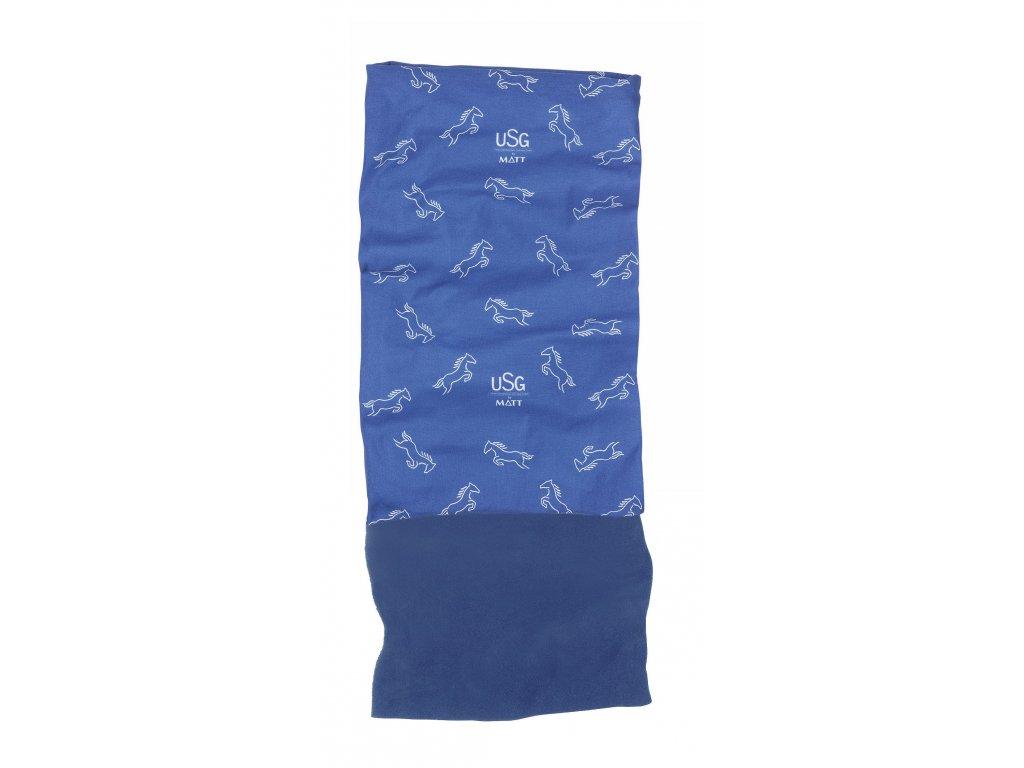 Multifunkční šátek s fleecem MATT, dětský, royal blue