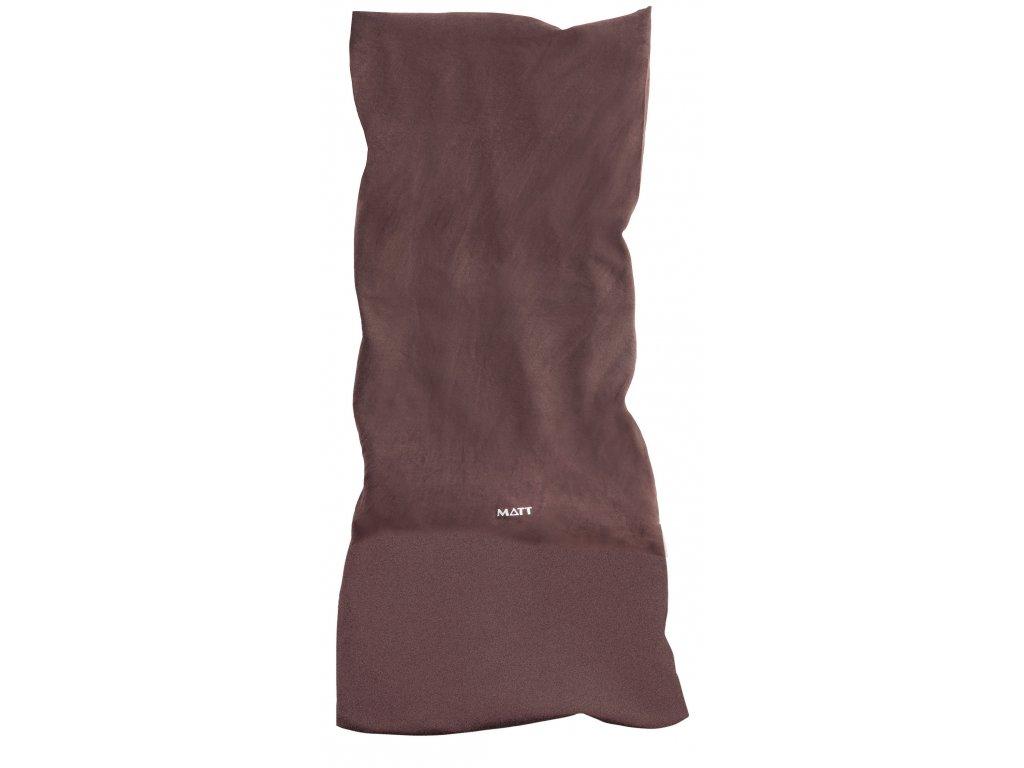 Multifunkční šátek s fleecem MATT, unisex, brown