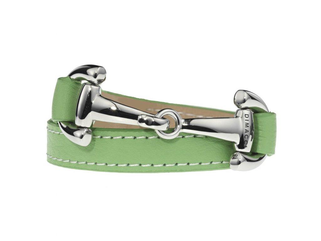 Náramek ALBA SIMPLE DIMACCI, pastel green/stříbrný