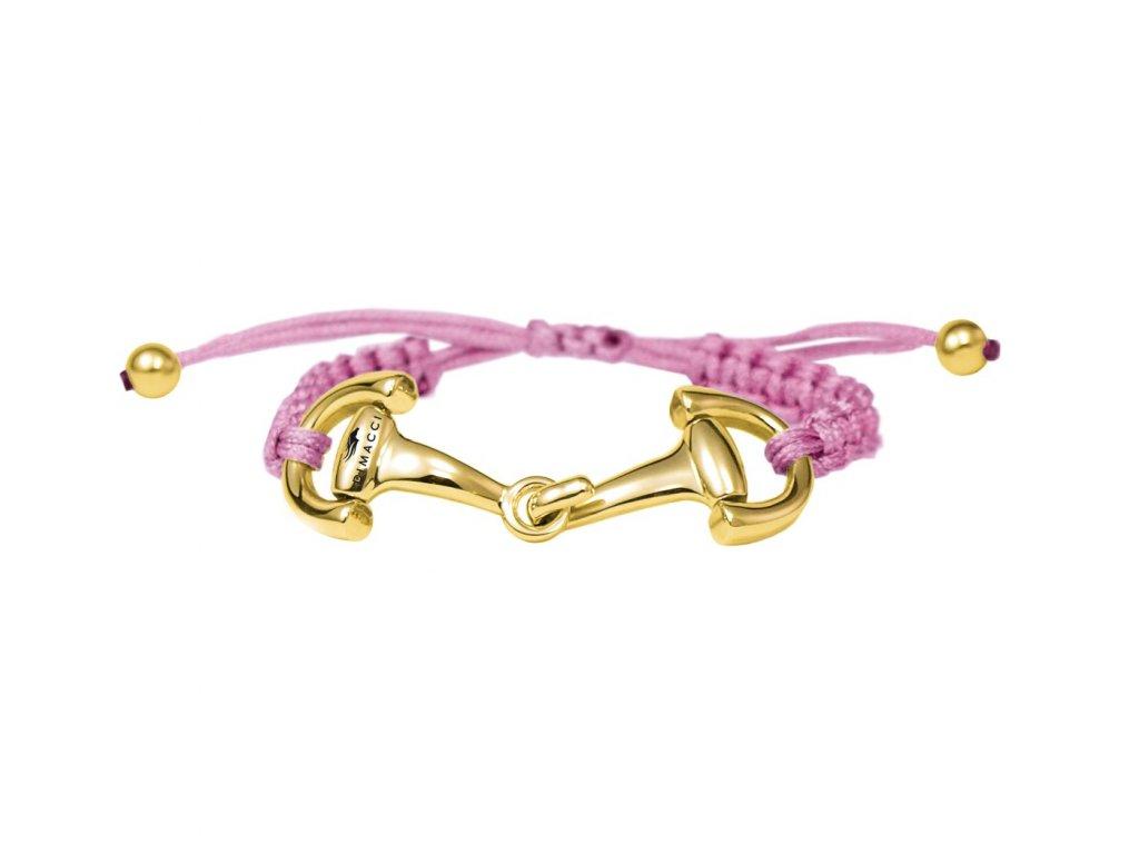 Náramek NICE&EASY DIMACCI, pink/zlatý
