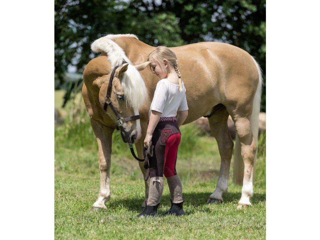 Rajtky jezdecké Mia USG, dětské, brown/red