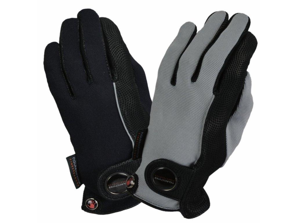 Rukavice jezdecké Ladies Forever Haukeschmidt, černé/šedé