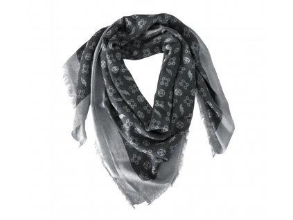 Šátek ručně tkaný DIMACCI, black/grey