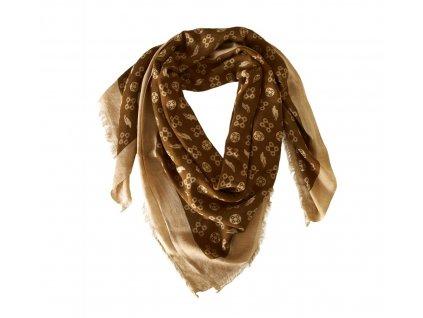 Šátek ručně tkaný DIMACCI, brown/beige
