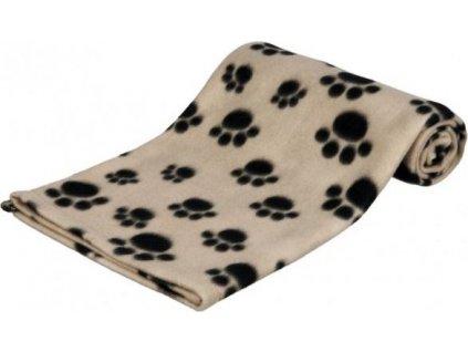 Deka pro psy Beany Trixie, hnědá a černé tlapky 100x70cm