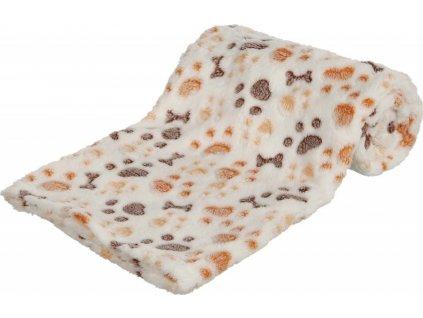 Deka pro psy Lingo Trixie, white/beige 100x75cm