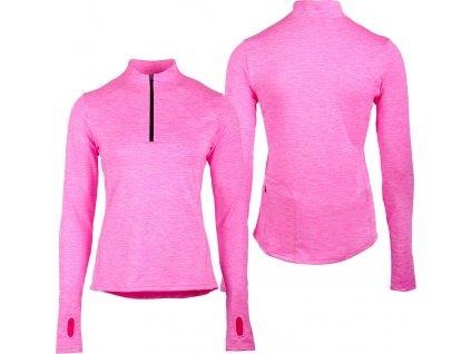 Triko multifunkční Kristy QHP, zateplené, dámské, neon pink