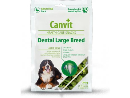 Canvit Snacks Dental Large Breed-Duck 250g