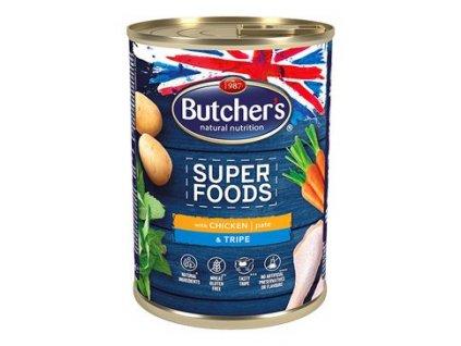 Butcher's Dog Superfood dršťky a kuřecí Paté konz.400g